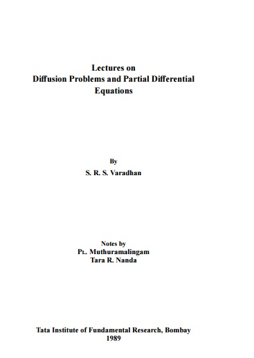 Lectures on Diffusion Problems and Partial Differential Equations