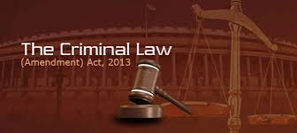 Criminal Law (Amendment) Act, 2013 India